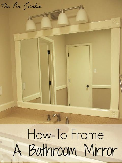 how to frame a bathroom mirror better than a flat mirror sweet