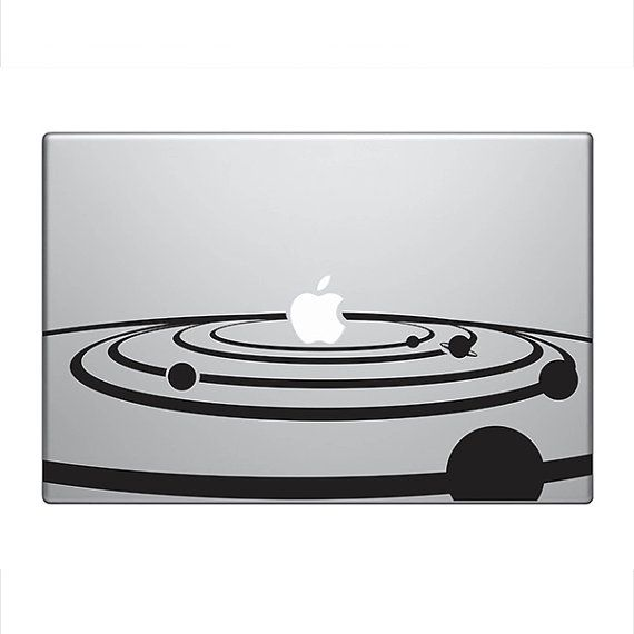 Solar System Vinyl Decal Sticker To Fit By StickerScience Tech - Custom vinyl decals macbook