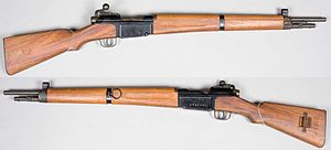 The MAS Modèle 36 was a military bolt-action rifle. First adopted in 1936 by France and intended to replace the Berthier and Lebel series of service rifles, it saw service long past the World War II period.
