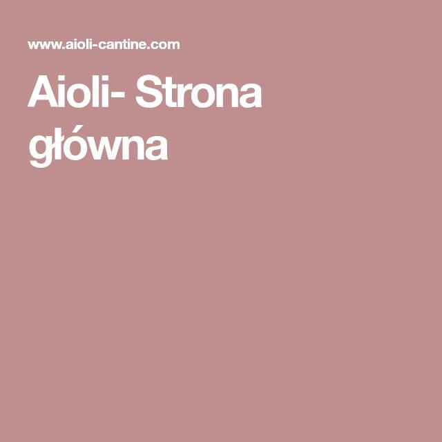 Aioli- Strona główna