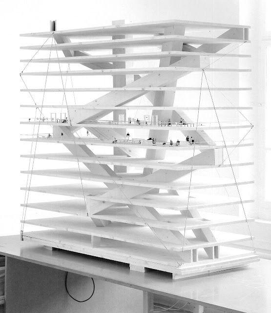 Architecture Model. Christian Kerez  Swiss Re Next . Zurich