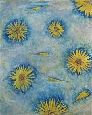 Yellow Flowers Original Artwork by Sophie Walker