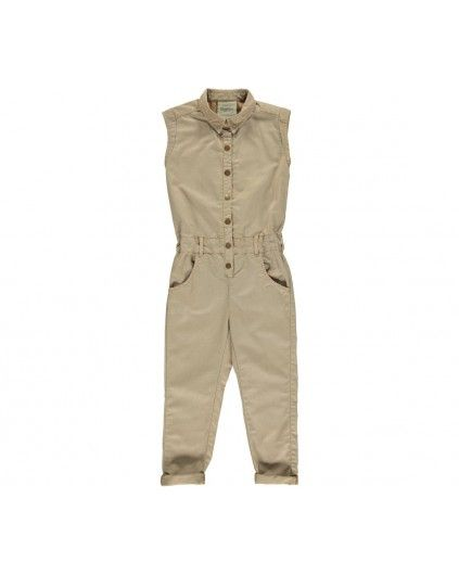 Ruth Twill Jumpsuit in Camel