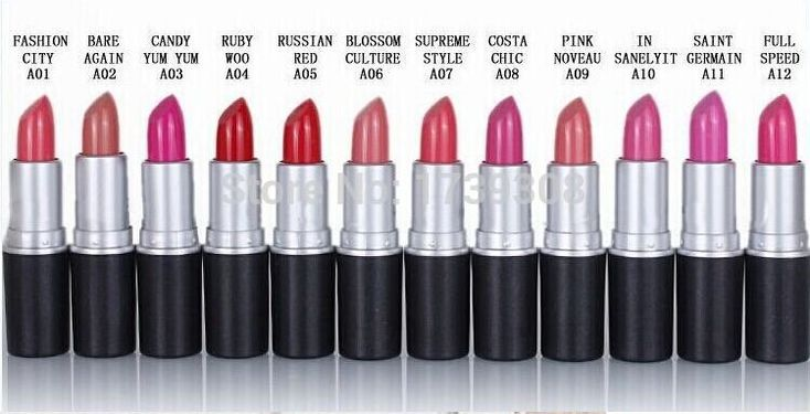mac lipstick colors names