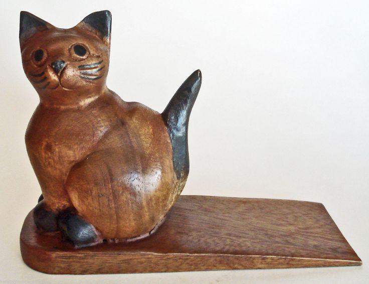 Door stopper - wooden cat door stop - wooden cat doorstop & 111 best Cat Door Stops images on Pinterest | Antique doors Iron ... Pezcame.Com