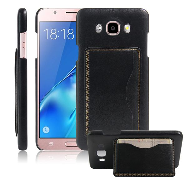 Multifunctional PU Leather Back Cover Card Slot Holder Phone Case for Samsung Galaxy J7 J7008 J7108