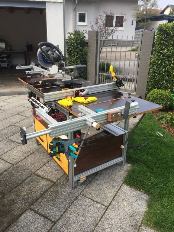Multifunction table for sawing, milling and welding …