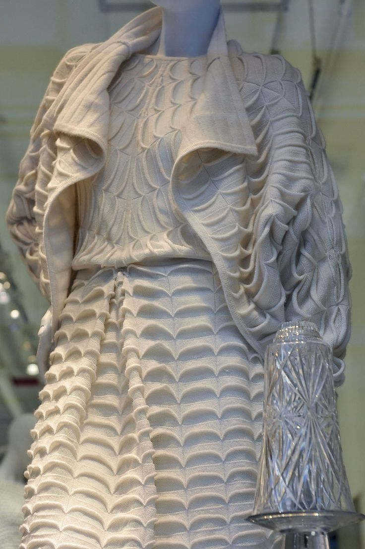 Textural Knitwear Design with repeating 3D patterns - textile manipulation; fabric design; textiles for fashion // Jason Wu FW12