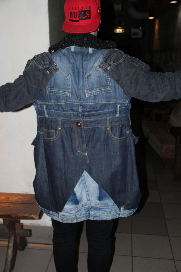 A jacket from seven pairs of jeans...seen in Riga