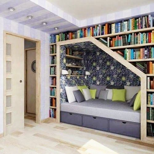 Unique and Modern bed with Built in Bookshelves and Drawers Design Ideas