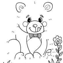 Teddy bear dot to dot game - Free Kids Games - CONNECT THE DOTS games - ANIMALS dot to dot
