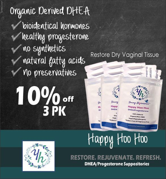 HAPPY HOO HOO 3-Pack - Bioidentical DHEA USP & Progesterone