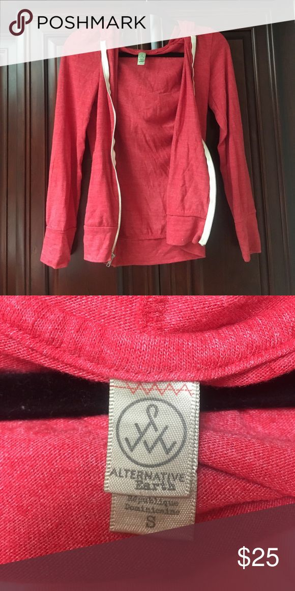 Alternative apparel red zip up hoodie ❤️ Alternative apparel light weight zip up hoodie Alternative Apparel Sweaters Cardigans