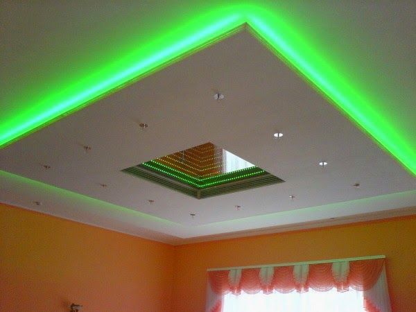 5 Gypsum False Ceiling Designs With LED Ceiling Lights For Living Room Part 97