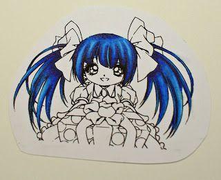 blauw haar kleuren gemaakt door Gea