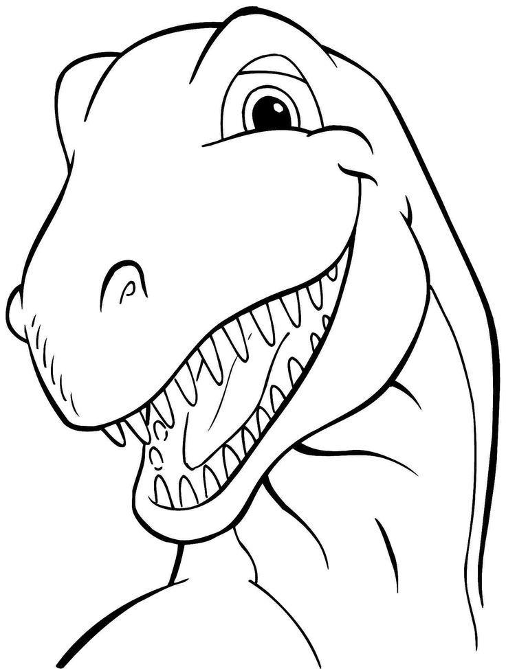 Animal Dinosaurs Tyrannosaurus Rex Coloring Sheets Free Printable