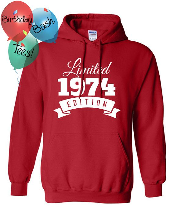 1974 Birthday Hoodie 42 Limited Edition by BirthdayBashTees