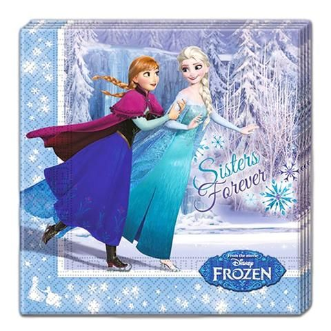 Frozen Ice Skating Napkins - Pack Of 20
