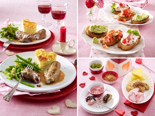 romantische hausgemachte Mahlzeiten für zwei