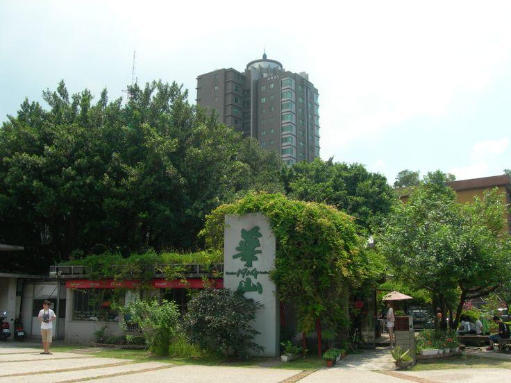正門口旁的小咖啡廳也被綠葉所包圍了 好綠的小屋