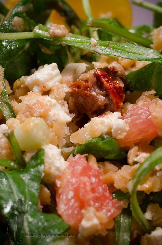 Piratage Culinaire: Salade de roquette aux lentilles corail et feta