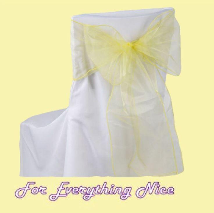 For Everything Genealogy - Daffodil Yellow Organza Wedding Chair Sash Ribbon Bow Decorations x 100, $235.00 (http://foreverythinggenealogy.mybigcommerce.com/daffodil-yellow-organza-wedding-chair-sash-ribbon-bow-decorations-x-100/)