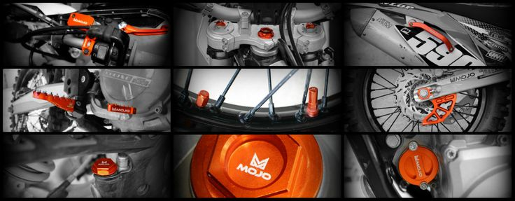 KTM Parts for KTM dirtbikes. Specializing in anodized CNC billet machined aluminum parts.