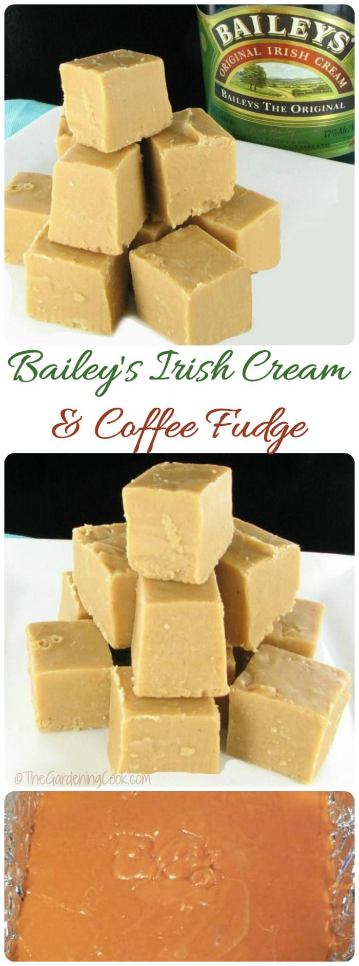 This Bailey's Irish Cream & Coffee fudge is the perfect sweet treat for your holiday table. It is delicious and so easy to make, too.