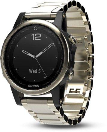 Garmin Fenix 5S Sapphire GPS Heart Rate Monitor Watch Champagne/Metal Regular
