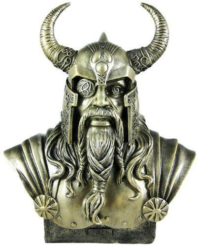 NORSE GOD OF ASGARD ODIN BUST STATUE -  NEW ~WICCA - PAGAN~