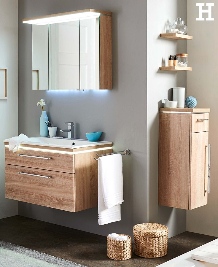 Wieso Denn Immer Weiss Darf S Ein Bischen Holz Sein Meinhoffi Badezimmer Bad Badmobel Badezimmer Einrichtung Badezimmer Schrank Badezimmer