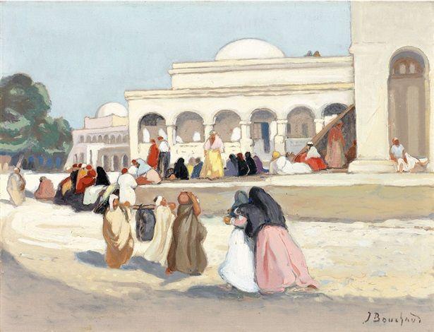Peinture Algérie - Le Dispensaire de Touggourt de Jean Bouchaud
