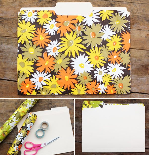 ModCloth Blog » Blog Archive » Single File: A Retro-Inspired File Folder DIY from A Beautiful Mess