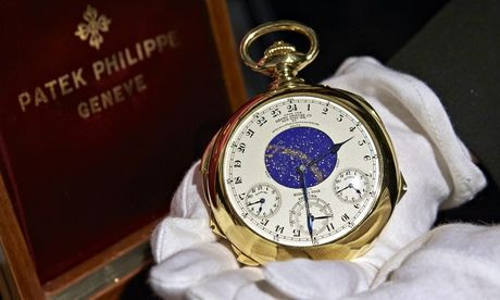 Gold watch Geneva auction - Patek Philippe 1930s Henry Graves Supercomplication #watch sells for world record £15m at #Sothebys