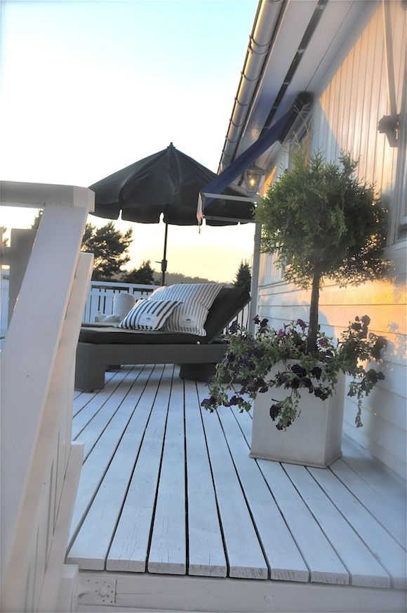 White Outdoor Deck