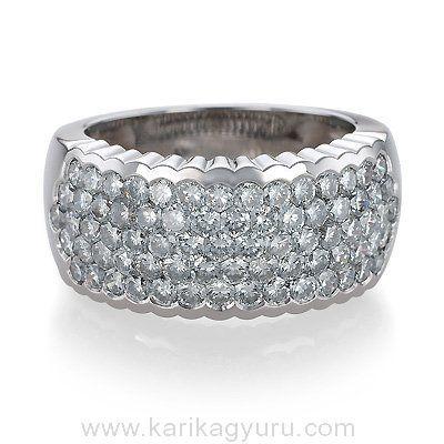 Szikrázó gyémánt gyűrű 2,80ct gyémánttal.