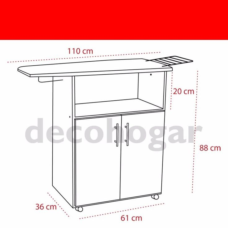 Mueble planchador melamina 2 ptas tabla planchar decohogar for Muebles de melamina