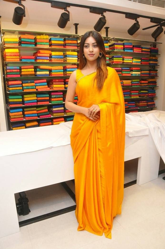 Anu Emmanuel in Yellow Saree \u2013 boutiquesareeblouse.com