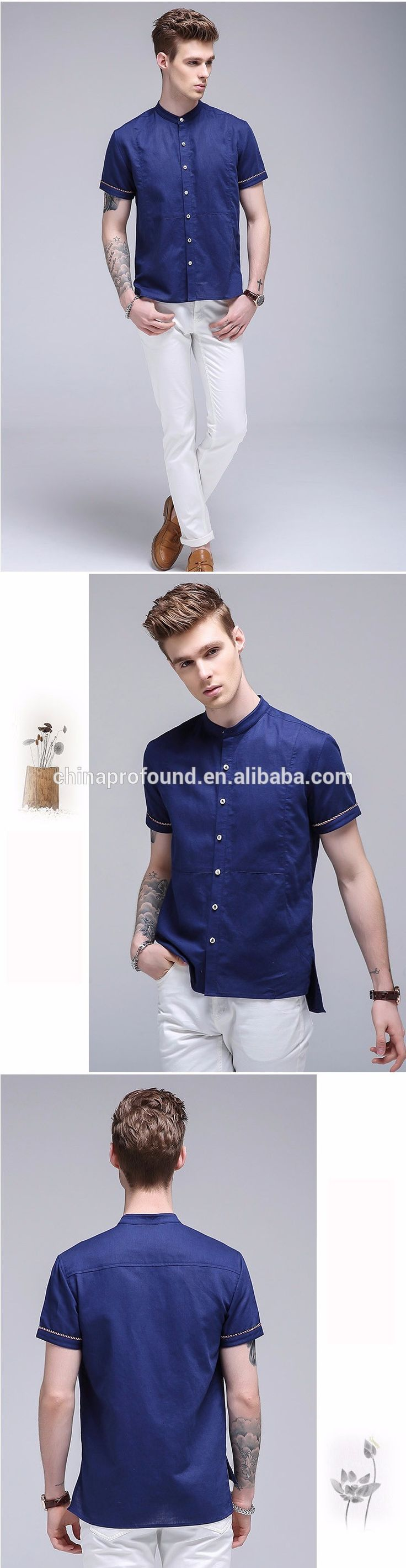 Wholesae custom design organic cotton hemp fabric shirts short sleeves comfortable cuasul flax shirts for men button up, View white linen shirts, Profound or OEM Product Details from Guangzhou Profound Garment Co., Ltd. on Alibaba.com