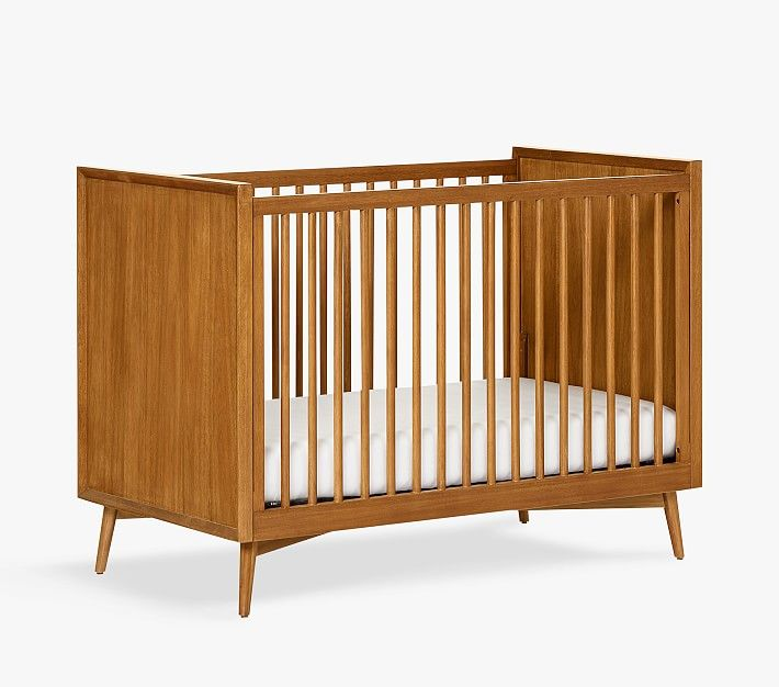 West Elm X Pbk Mid Century Convertible Crib In 2020 Mid Century Nursery Cribs Convertible Crib