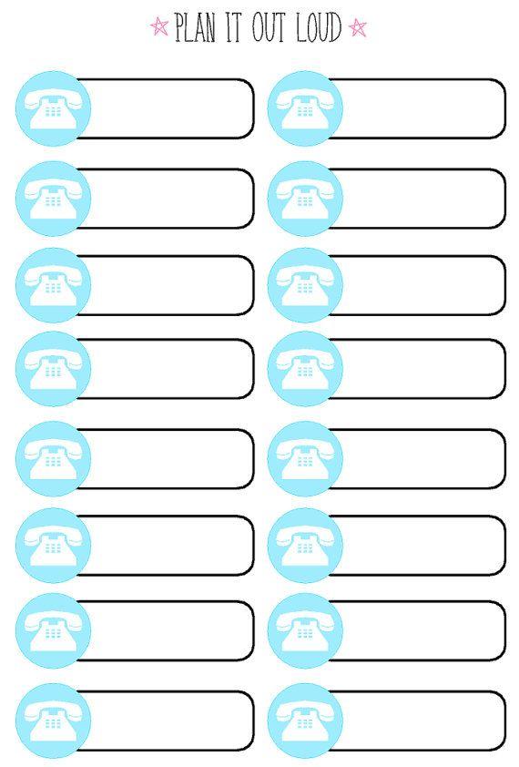 Icon label phone sticker set (Erin Condren stickers)