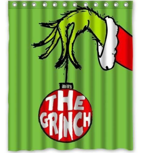 Christmas Dan Sproul The Grinch Shower Curtain Christmas Shower