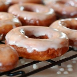 Gluten-Free Raised Donuts with Honey Glaze
