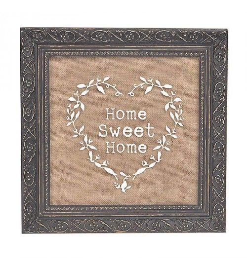 WOODEN WALL DECO 'HOME' 30X2X30