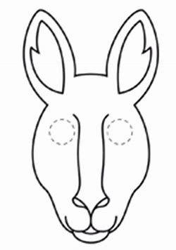 Image Result For Kangaroo Face Mask Template Animal Masks Australian