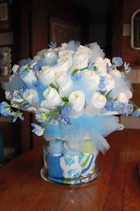 Blue Diaper bouquet