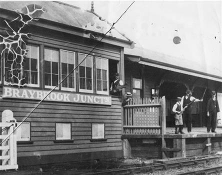 VictorianCollections-medium. (1905) - BRAYBROOK JUNCTION STATION. Renamed Sunshine Station in 1907