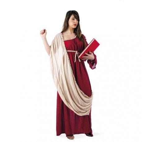 #Disfraz de #Griega o #Romano para #Mujer Disfraz de Griega con efecto real gracias a sus tejidos y confeccion. Este disfraz es perfecto para convertite en Hipatia de Alejandria, la primera mujer cientifica. Este disfraz es ideal para fiestas de Romanos y Griegos.