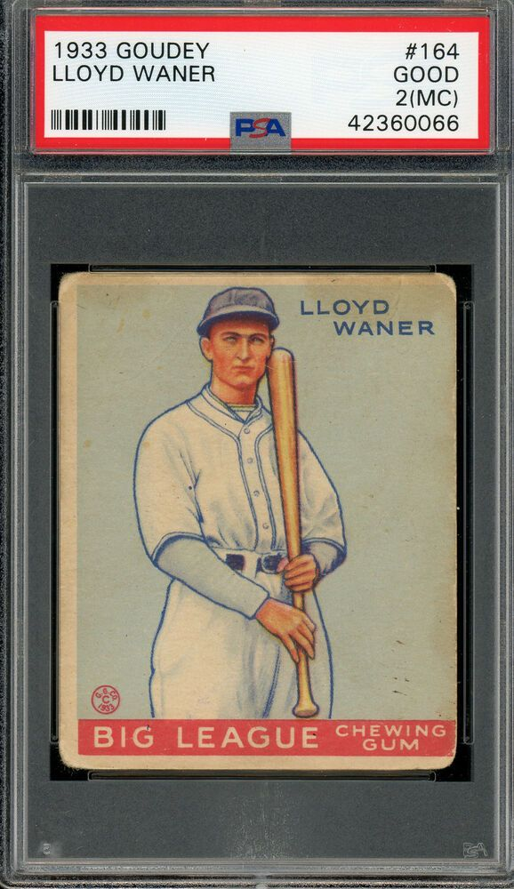 1933 Goudey 164 Lloyd Waner Hof Pirates Psa 2mc