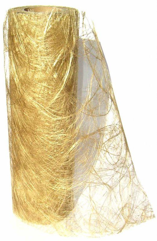 Bordløber sizoweb guld 25 m - table deco